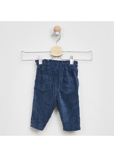 Panço Kız Bebek Kadife Pantolon 2021GB04009 Lacivert